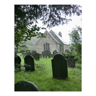 Igreja paroquial de Llanmawddwy (rua Tydecho) Papel De Carta Personalizados