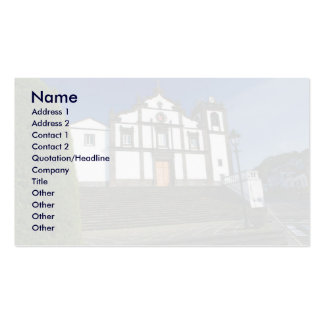 Igreja portuguesa cartão de visita