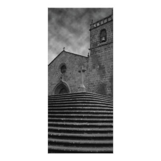 Igreja portuguesa velha 10.16 x 22.86cm panfleto