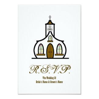 Igreja que Wedding RSVP Convites Personalizado
