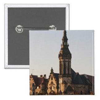 Igreja reformada Leipzig, Alemanha Bóton Quadrado 5.08cm