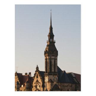 Igreja reformada Leipzig, Alemanha Cartão Postal