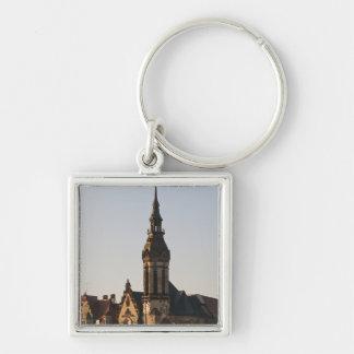 Igreja reformada Leipzig, Alemanha Chaveiro Quadrado Na Cor Prata