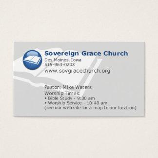 Igreja soberana da benevolência - para quem o cartão de visitas