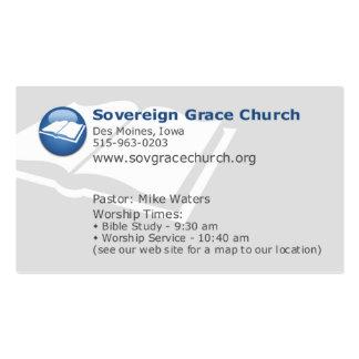 Igreja soberana da benevolência - para quem o cris modelos cartão de visita