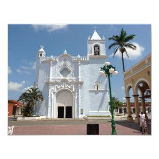 Igreja-Tlacotalpan de Candelaria, Veracruz Convite 10.79 X 13.97cm