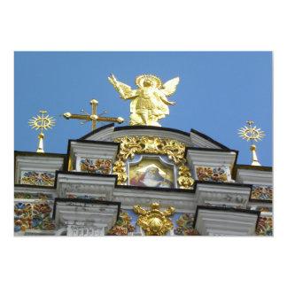 Igreja ucraniana convite 12.7 x 17.78cm