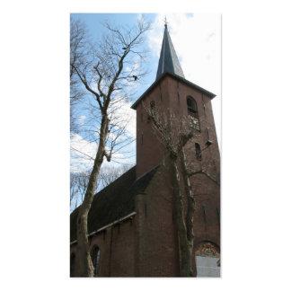 Igreja velha e cartão com fotos pequeno das cartão de visita