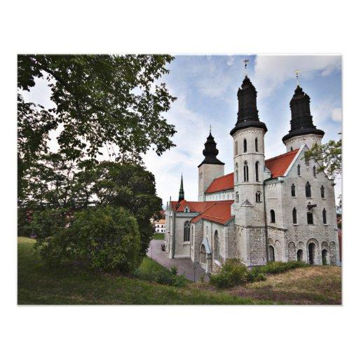 Igreja velha na suecia de Visby Convite Personalizados