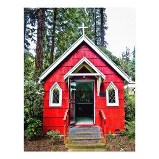 Igreja vermelha no insecto das madeiras flyer 21.59 x 27.94cm