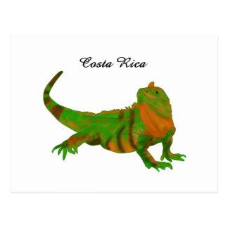 Iguana de Costa Rica Cartões Postais