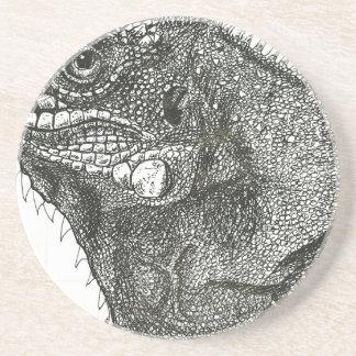 Iguana Porta-copos De Arenito