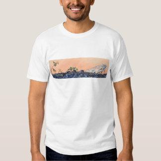 Iguana que expor ao sol em Costa Rica T-shirts