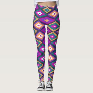 Ikat colorido leggings