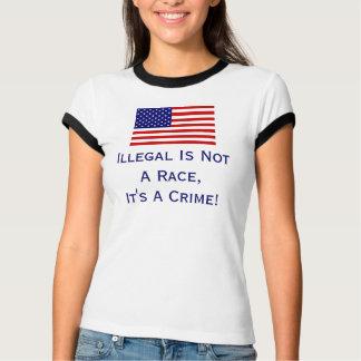Ilegal não é uma raça, camisa de T