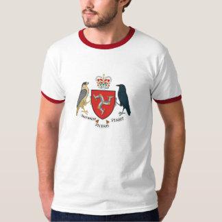 Ilha da camisa da brasão do homem camiseta