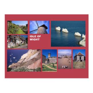 Ilha da multi-imagem do Wight Cartão Postal