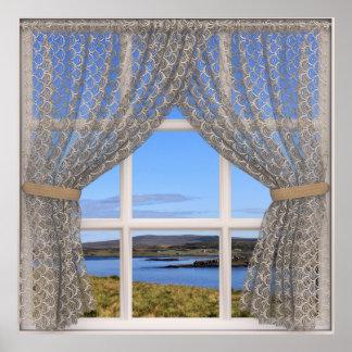 Ilha da opinião falsificada da janela de Skye Poster