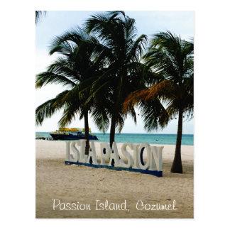 Ilha da paixão, cartão de Cozumel