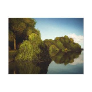 Ilha das árvores - impressão das canvas da naturez impressão em canvas