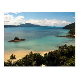 Ilha de Hamilton, o Whitsunday - cartão
