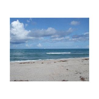 Ilha de Jupiter - Florida - ondas na praia Impressão De Canvas Esticadas