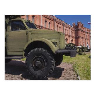 Ilha de Kronverksky, museu da artilharia, caminhão Cartão Postal
