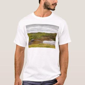 Ilha de Lewis, Hebrides exterior, Scotland. Barco Camiseta