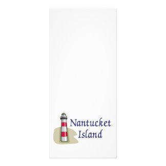Ilha de Nantucket 10.16 X 22.86cm Panfleto