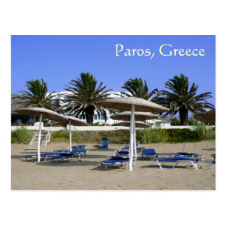 Ilha de Paros, cartão dos guarda-chuvas de praia