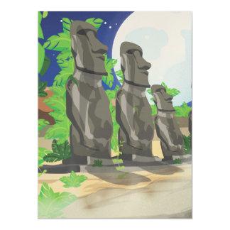 Ilha de Páscoa Convite 16.51 X 22.22cm