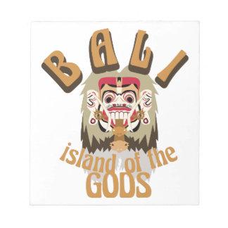 Ilha de Rangda Bali Bloco De Notas