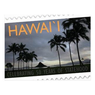 Ilha do cartão do aniversário do statehood 50th de