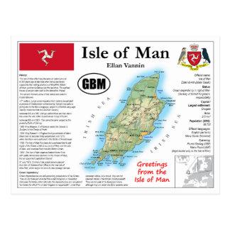 Ilha do cartão do mapa do homem