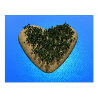 Ilha do coração - 3D rendem Cartão Postal