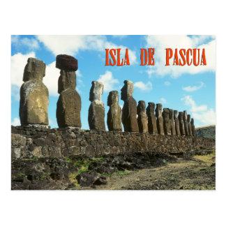 Ilha do éster (Isla de Pascua) Cartão Postal