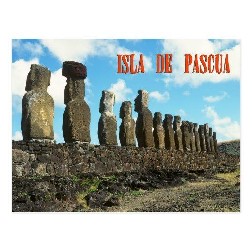 Ilha do éster (Isla de Pascua) Cartoes Postais