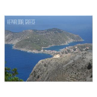 Ilha do grego de Kefalonia da paisagem da vila de Foto