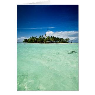 Ilha do Pacífico com cartão das palmeiras Cartão