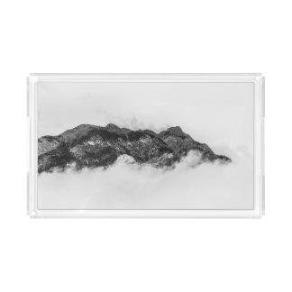 Ilha em nuvens bandeja de acrílico