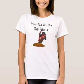 Ilha grande do casamento havaiano da noiva de camiseta