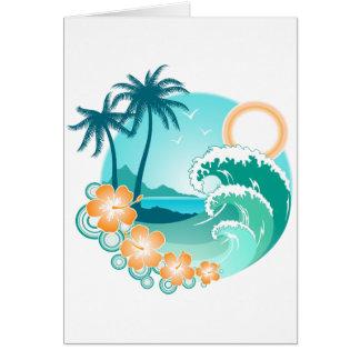 Ilha havaiana 1 cartão