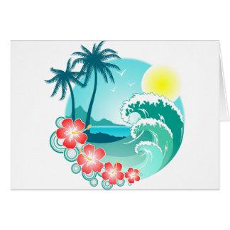 Ilha havaiana 3 cartão