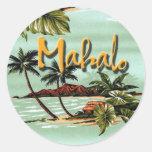 Ilha havaiana de Mahalo Adesivo