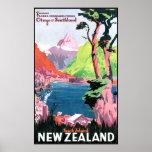 Ilha sul Nova Zelândia Poster