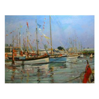 Ilha velha de Yarmouth dos Gaffers do Wight 2011 Cartão Postal