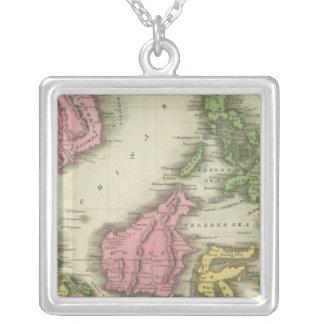 Ilhas do indiano do leste colar banhado a prata