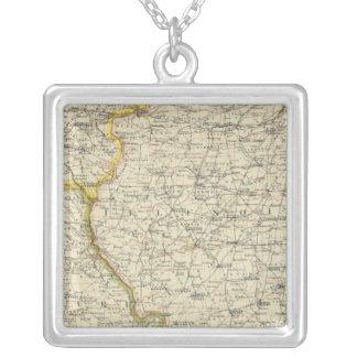 Illinois, Indiana, Iowa, Missouri Colar Banhado A Prata