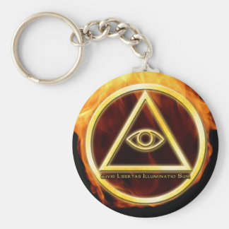 Illuminati no fogo chaveiros