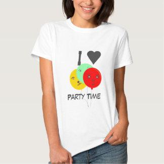 ILove balões de sorriso deste tempo do partido das T-shirt